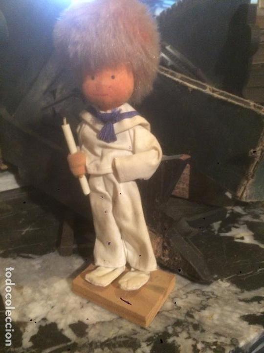 Reediciones Muñecas Españolas: Antiguo muñeco / muñeca vestido de marinero de primera comunión en fieltro años 60-70 - Foto 2 - 87022892