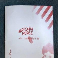 Reediciones Muñecas Españolas: CARPETA DE PRENSA ORIGINAL DEL AÑO 2000. CON UN DISCO CON DOCUMENTOS Y FOTOS MARIQUITA PÉREZ. Lote 92689418