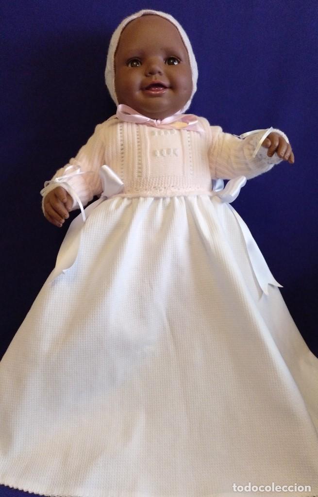 Reediciones Muñecas Españolas: Muñeca Bebe mulata replica de pepona Sara de Mariquita Perez,mide 60 cm. - Foto 6 - 134914434