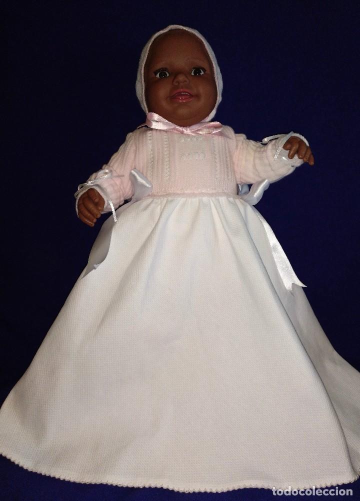 Reediciones Muñecas Españolas: Muñeca Bebe mulata replica de pepona Sara de Mariquita Perez,mide 60 cm. - Foto 8 - 134914434