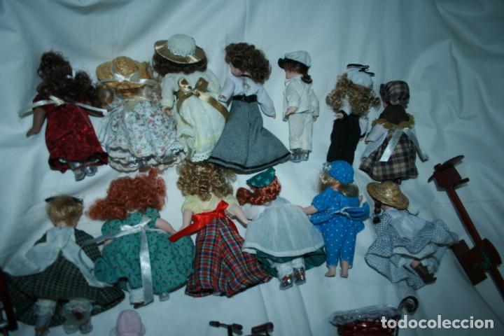 Reediciones Muñecas Españolas: lote de 14 muñecas y accesorios planeta de agostini años 90. porcelana - Foto 3 - 138815902