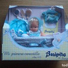Reediciones Muñecas Españolas: BARRIGUITAS DE SIEMPRE. MI PRIMERA CANASTILLA. AÑO 1972. REEDICIÓN. FAMOSA ¡NUEVA, SIN ABRIR!. Lote 150543666