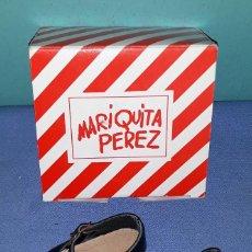 Reediciones Muñecas Españolas: ZAPATOS CON CAJA DE MARIQUITA PEREZ ORIGINAL A ESTRENAR REEDICION 1998 VER FOTOS Y DESCRIPCION. Lote 155411606