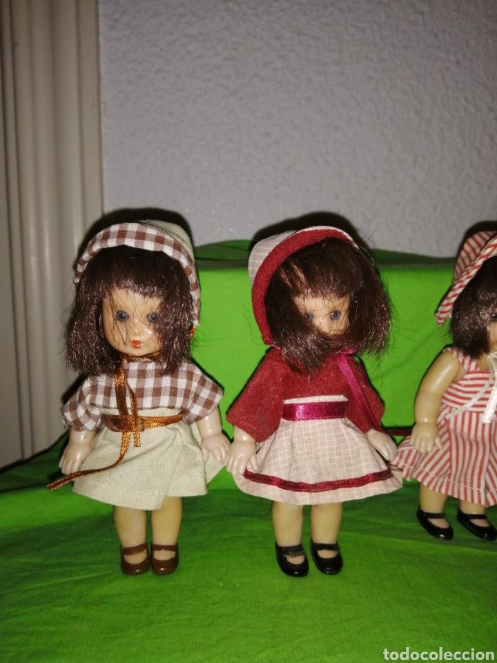 Reediciones Muñecas Españolas: Lote 4 mini mariquita perez de altaya de 14 cm completas - Foto 2 - 159741025