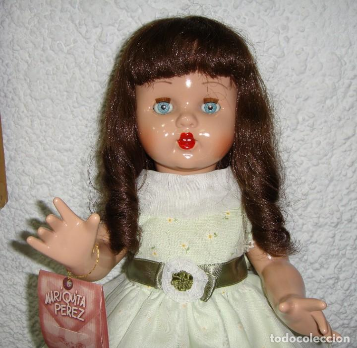 Reediciones Muñecas Españolas: Mariquita Perez. Reedición del 98. Pelo natural. Ojos durmientes. Con certificado. - Foto 2 - 163961830