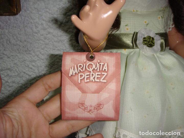 Reediciones Muñecas Españolas: Mariquita Perez. Reedición del 98. Pelo natural. Ojos durmientes. Con certificado. - Foto 11 - 163961830