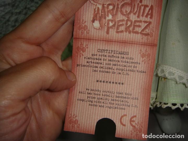 Reediciones Muñecas Españolas: Mariquita Perez. Reedición del 98. Pelo natural. Ojos durmientes. Con certificado. - Foto 12 - 163961830