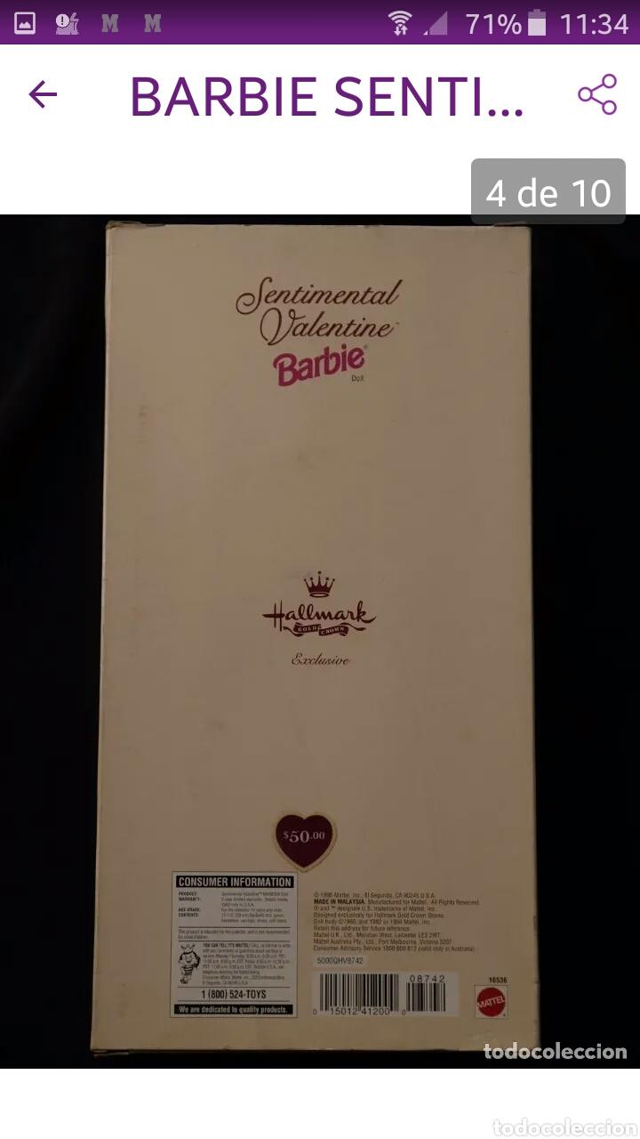 Reediciones Muñecas Españolas: BARBIE SENTIMENTAL VALENTINE 1996 MUY BUEN ESTADO NUEVA EN SU CAJA - Foto 9 - 186388295