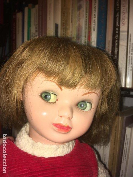 Reediciones Muñecas Españolas: Muñeca española ojos durmientes y movimiento lateral, cabeza dañada, dos vestidos,55 cms - Foto 11 - 186820733