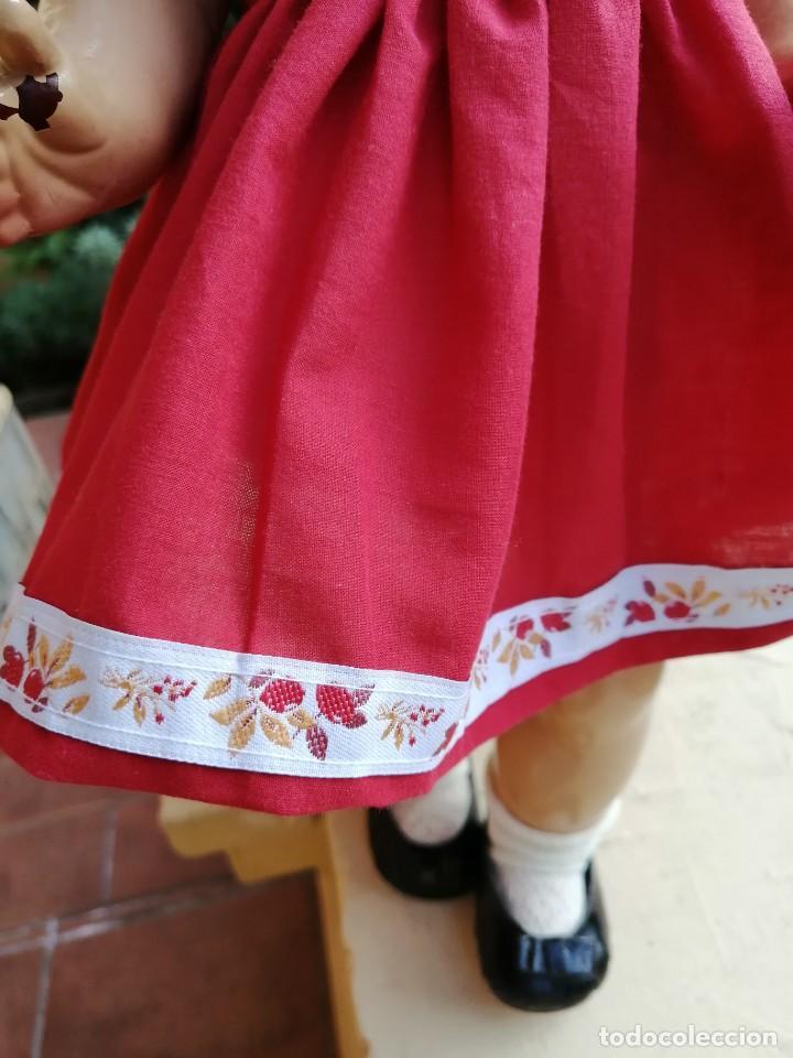 Reediciones Muñecas Españolas: Vestido rojo para muñecas de 50 a 54 cm..............2 - Foto 2 - 194208797