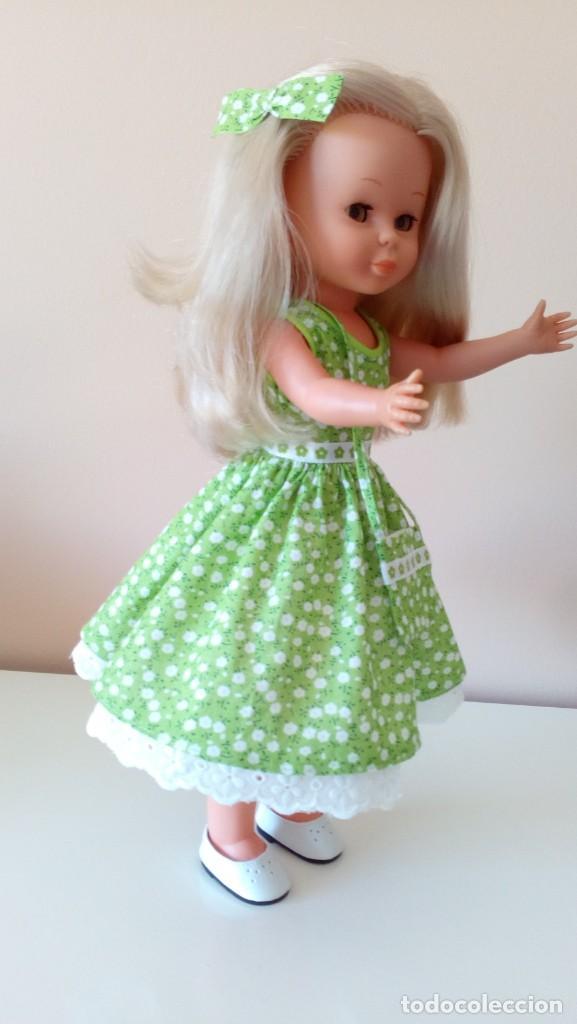 Reediciones Muñecas Españolas: Vestido verde flores años 50. - Foto 3 - 208128058