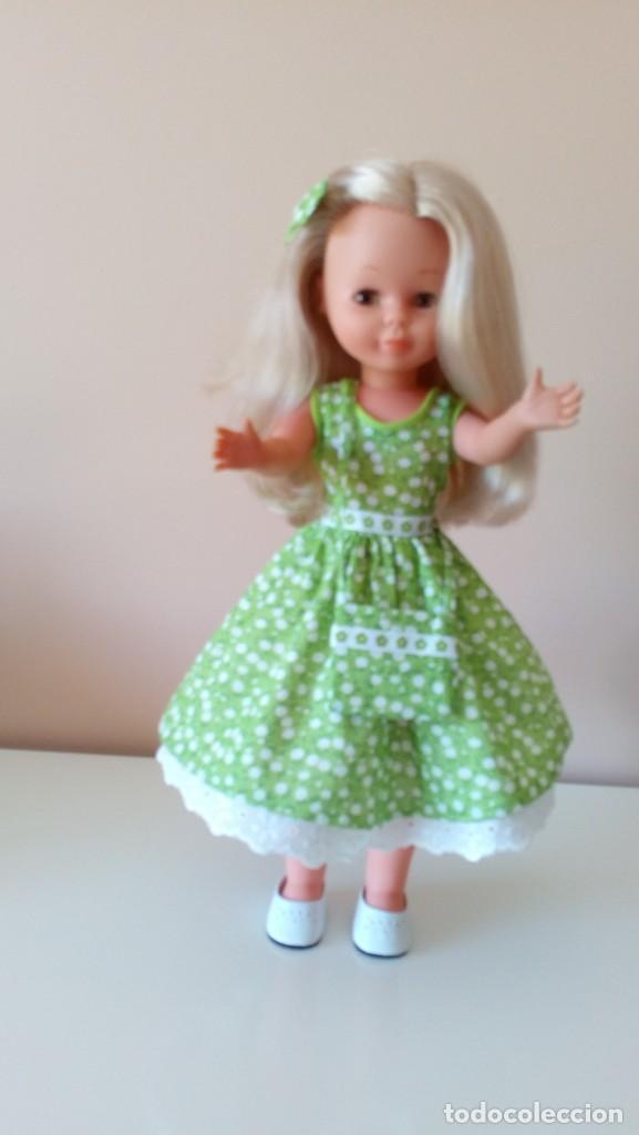 Reediciones Muñecas Españolas: Vestido verde flores años 50. - Foto 4 - 208128058