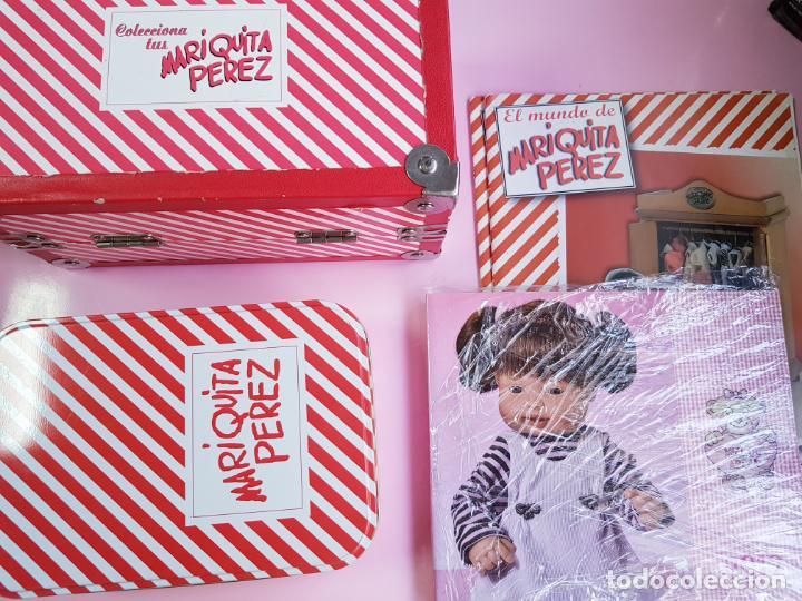 CAJA PARA MUÑECA+LIBRO DE FAMILIA+LETRERO ARCILLA+MALETÍN-LIBRO GRUESO-MARIQUITA PEREZ-VER FOTOS. (Juguetes - Reediciones Muñeca Española Clásica)