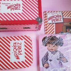 Reediciones Muñecas Españolas: CAJA PARA MUÑECA+LIBRO DE FAMILIA+LETRERO ARCILLA+MALETÍN-LIBRO GRUESO-MARIQUITA PEREZ-VER FOTOS.. Lote 53807195