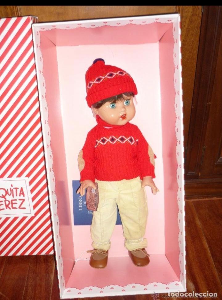 MARIQUITA PEREZ JUANIN PEREZ TAMAÑO GRANDE JERSEY MARINO NUEVO EN CAJA (Juguetes - Reediciones Muñeca Española Moderna)