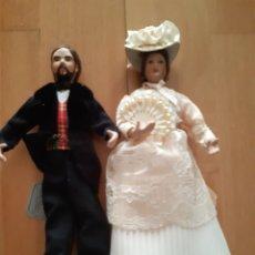 Reedições Bonecas Espanholas: LOTE 2 MUÑECAS DE PORCELANA MENTA Y CANELA DE LA DISEÑADORA ANA MARIN . VER DESCRIPCION. Lote 227715325