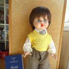 Reediciones Muñecas Españolas: MUÑECO JUANIN - FAMILIA MARIQUITA PEREZ EDICION 2002 - CON CAJA, CERTIFICADO Y LIBRO DE FAMILIA. Lote 236719930