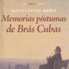 Relatos y Cuentos: MEMORIAS POSTUMAS DE BRAS CUBAS. MADRID: ENEIDA, 2010. 13X21. RÚSTICA CON SOLAPAS. LIBRO. A ESTRENAR. Lote 52580897