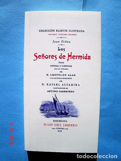 LOS SEÑORES DE HERMIDA. EDICIÓN FACSIMILAR CON MOTIVO DEL DÍA INTERNACIONAL DEL LIBRO. 23 ABRIL 2008 (Libros Nuevos - Literatura - Relatos y Cuentos)