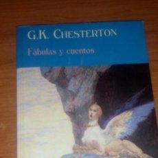 Relatos y Cuentos: FÁBULAS Y CUENTOS. CHESTERTON. VALDEMAR, EL CLUB DIÓGENES. ESCASO. Lote 93181425