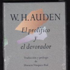 Relatos y Cuentos: W. H. AUDEN EL PROLÍFICO Y EL DEVORADOR EDHASA 1996 1ª EDICIÓN TRADC PRÓLOGO VÁZQUEZ-RIAL PRECINTADO. Lote 95693679