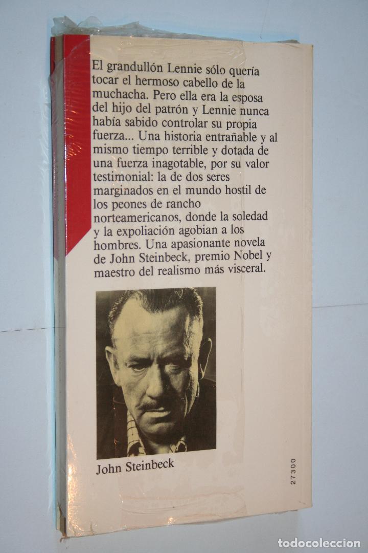 Relatos y Cuentos: DE RATONES Y HOMBRES (John Steinbeck) *** CIRCULO LECTORES *** PRECINTADO - Foto 2 - 121166699