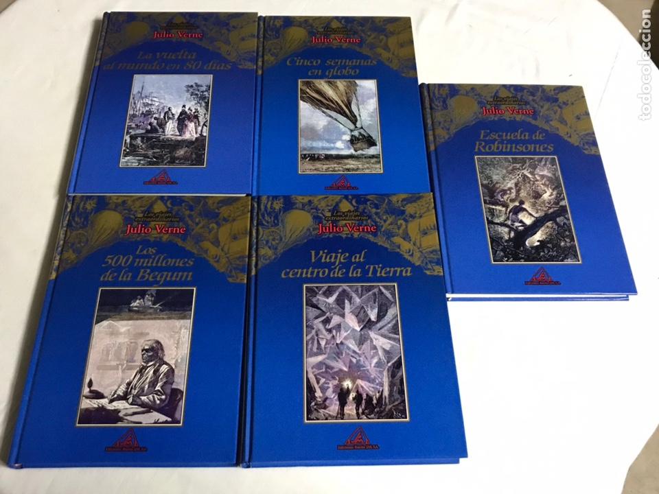 COLECCIÓN DE 5 LIBROS DE JULIO VERNE (Libros Nuevos - Literatura - Relatos y Cuentos)