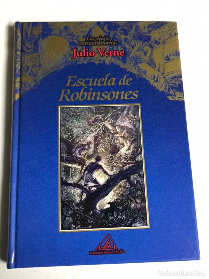 Relatos y Cuentos: COLECCIÓN DE 5 LIBROS DE JULIO VERNE - Foto 4 - 143745441