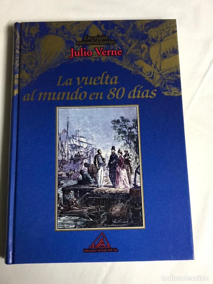 Relatos y Cuentos: COLECCIÓN DE 5 LIBROS DE JULIO VERNE - Foto 7 - 143745441