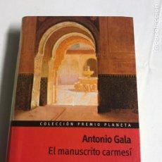 Relatos y Cuentos: LIBRO EL MANUSCRITO CARMESÍ. ANTONIO GALA. Lote 143848800