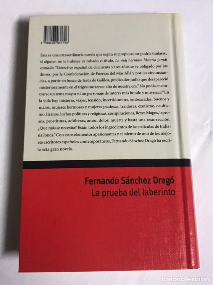 Relatos y Cuentos: LIBRO LA PRUEBA DEL LABERINTO. FERNANDO SÁNCHEZ DRAGO - Foto 2 - 143849026