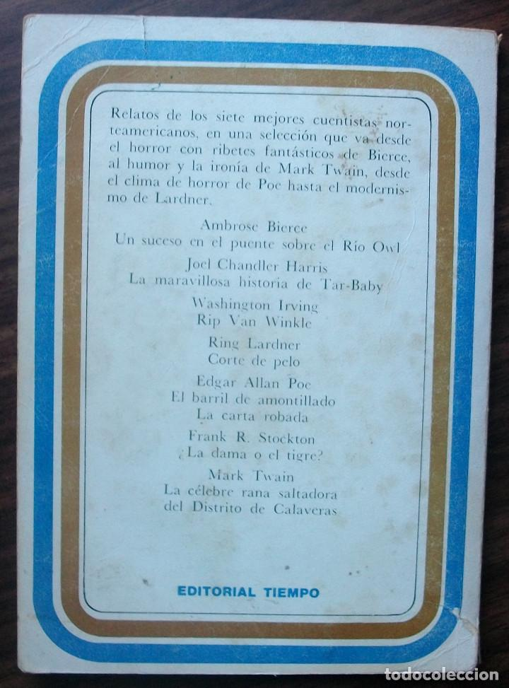 Relatos y Cuentos: GRANDES CUENTOS NORTE-AMERICANOS. EDITORIAL TIEMPO, 1977 - Foto 2 - 148254446