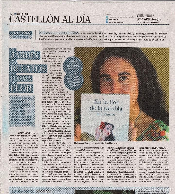 Relatos y Cuentos: En la flor de la rambla, de M. J. Zapater (relatos, 2ª ed.) - Foto 3 - 138350122