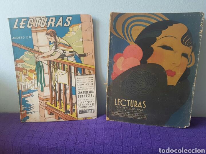 LOTE DE REVISTAS LECTURAS AGOSTO 1937-SEPTIEMBRE 1933 (Libros Nuevos - Literatura - Relatos y Cuentos)