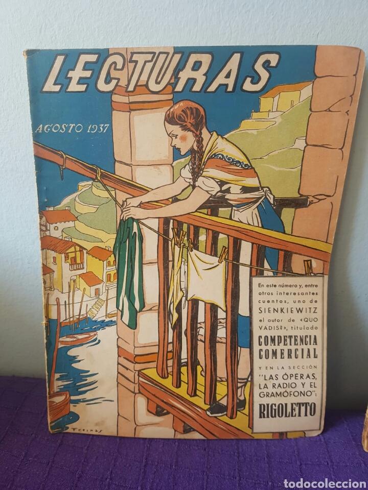 Relatos y Cuentos: Lote de revistas lecturas Agosto 1937-Septiembre 1933 - Foto 2 - 148785100