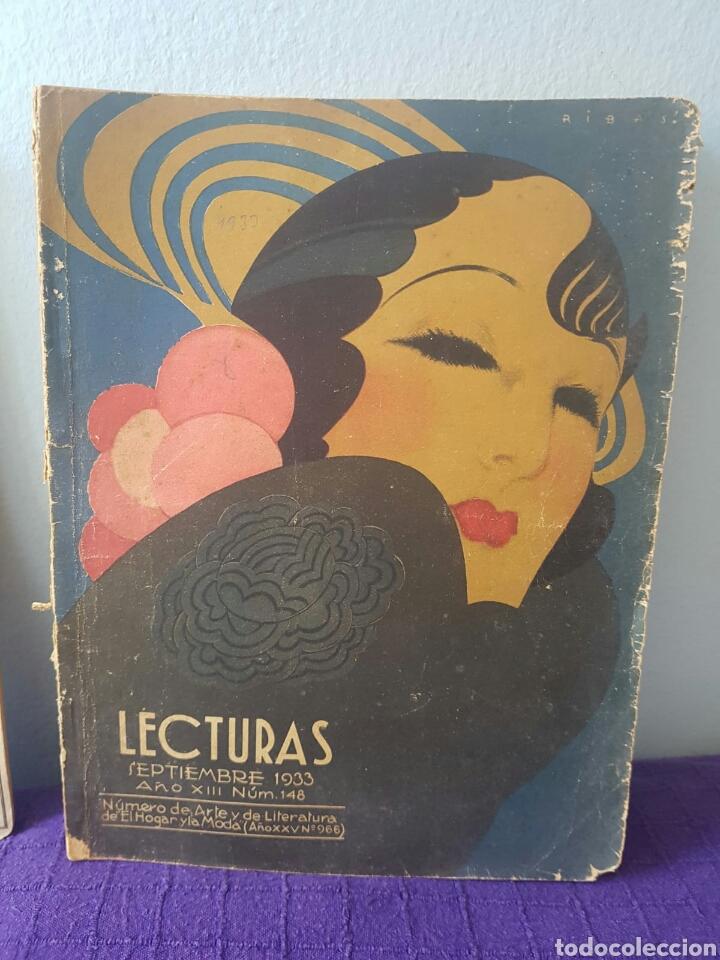 Relatos y Cuentos: Lote de revistas lecturas Agosto 1937-Septiembre 1933 - Foto 3 - 148785100