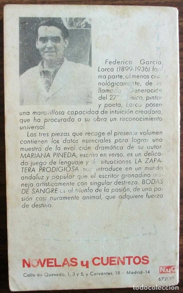 Relatos y Cuentos: MARIANA PINEDA. LA ZAPATERA. PRODIGIOSA BODAS DE SANGRE. FEDERICO GARCIA LORCA - Foto 2 - 150625182