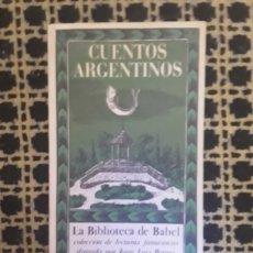 Relatos y Cuentos: CUENTOS ARGENTINOS. Lote 172393223