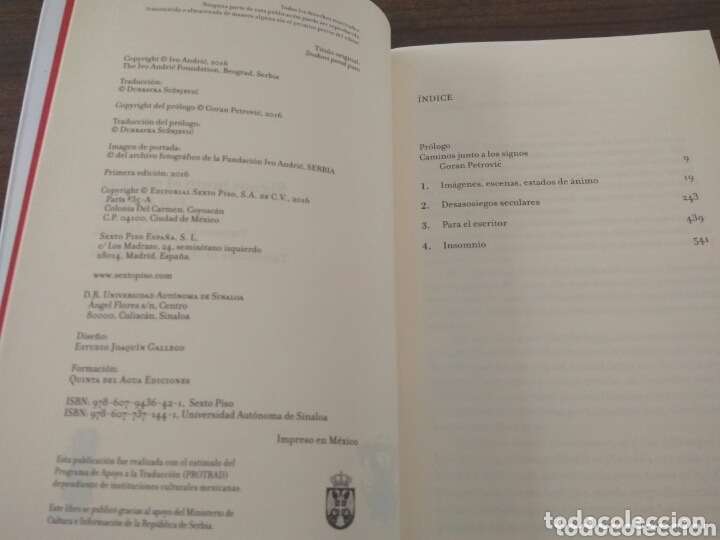Relatos y Cuentos: SIGNOS JUNTO AL CAMINO. Ivo Andric. 2016. editorial sexto piso - Foto 7 - 172813664