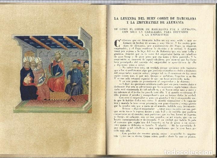 Relatos y Cuentos: LA LEYENDA DEL BUEN CONDE DE BARCELONA Y LA EMPERATRIZ DE ALEMANIA SEIX BARRAL 1.953 - Foto 3 - 183360048