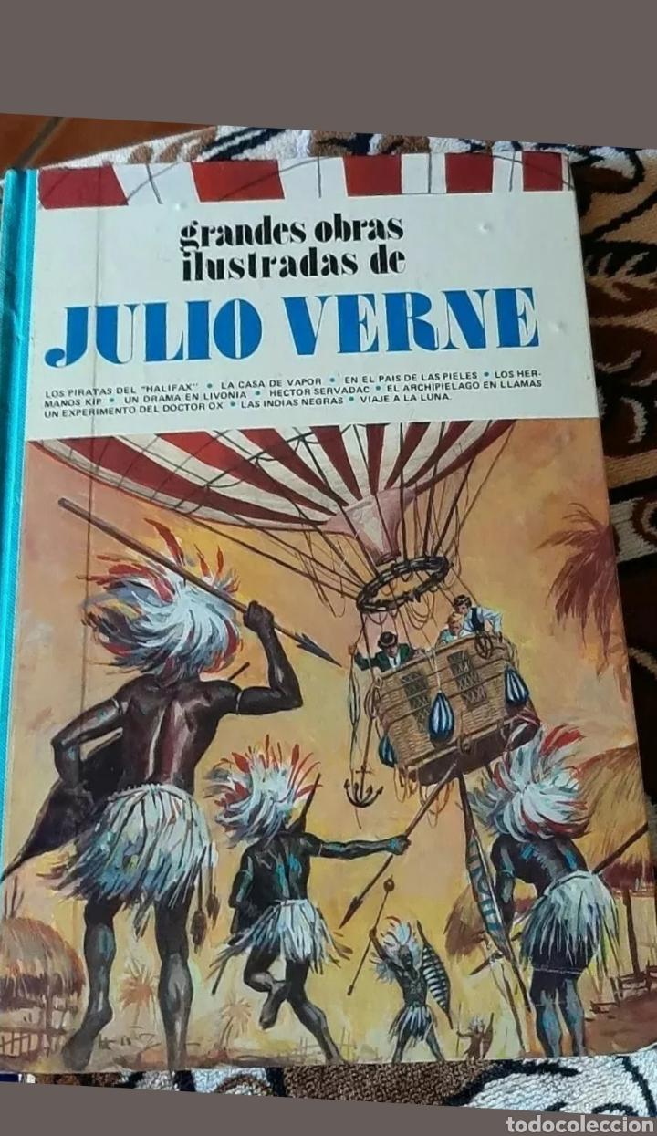 Relatos y Cuentos: Libros Grandes obras ilustradas de Julio Verne . - Foto 2 - 192839630