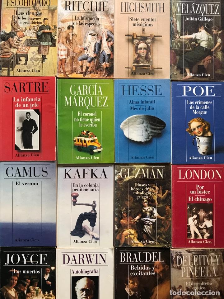 LOTE 16 LIBROS ALIANZA CIEN KAFKA CAMUS JOYCE POE GARCÍA MARQUEZ SARTRE (Libros Nuevos - Literatura - Relatos y Cuentos)