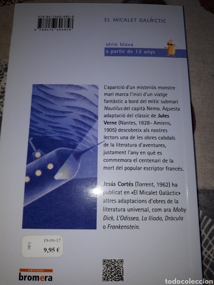 Relatos y Cuentos: LIBRO.JULIO VERNE.20.000 LEGUAS.EDITORIAL EN VALENÇIA.NUEVO - Foto 2 - 207466645