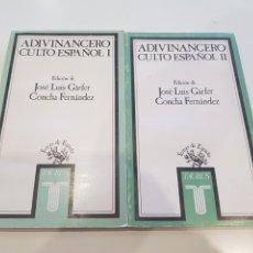 Relatos y Cuentos: LOTE ROMO I Y II ADIVINANCERO CULTO ESPAÑOL , TAURUS 1990. Lote 210685531