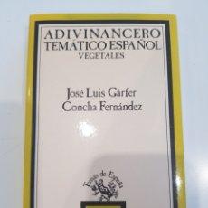Relatos y Cuentos: ADIVINANCERO TEMATICO ESPAÑOL ,VEGETALES , TAURUS ,1993. Lote 210685905