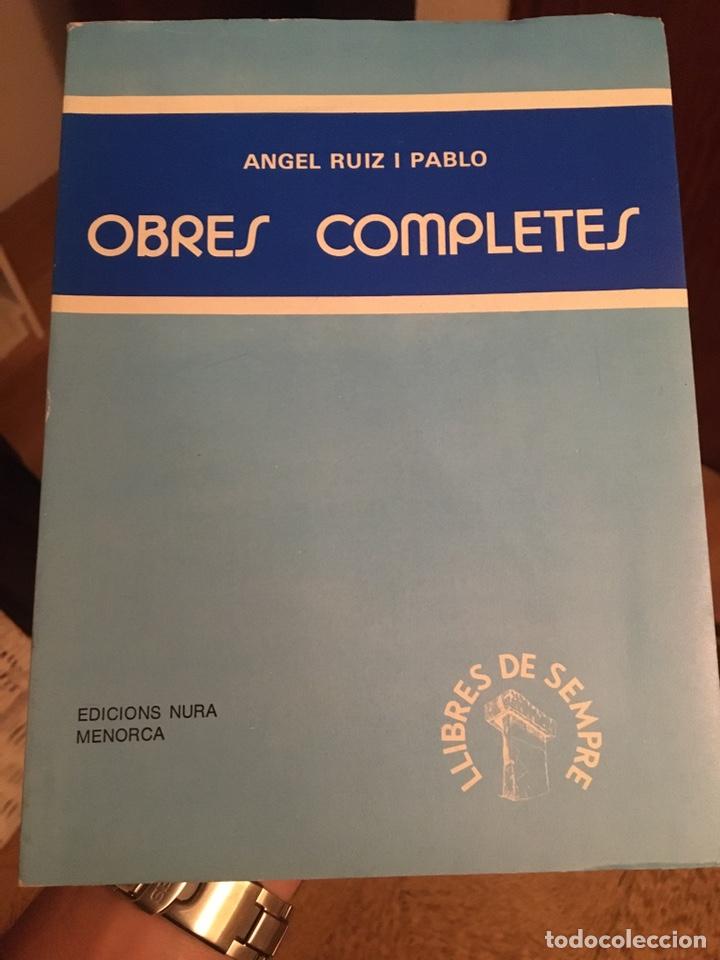ANGEL RUIZ Y PABLO - OBRES COMPLETES (Libros Nuevos - Literatura - Relatos y Cuentos)