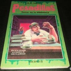 Relatos y Cuentos: PESADILLAS - TERROR EN LA BIBLIOTECA . R.L.STINE. Lote 220432828