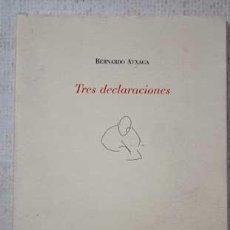 Relatos y Cuentos: TRES DECLARACIONES - BERNARDO ATXAGA. Lote 239890850