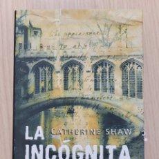 Relatos y Cuentos: LA INCÓGNITA NEWTON CATHERINE SHAW. Lote 269398913
