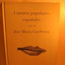 Relatos y Cuentos: CUENTOS POPULARES ESPAÑOLES. VOL. 2. Lote 269970933